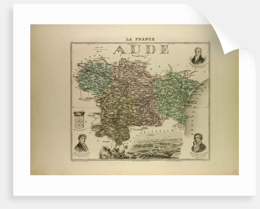 Map of Aude by Anonymous