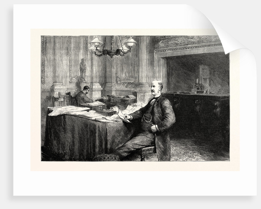 The Lord Mayor at Home the Parlour at the Mansion House London UK by Anonymous