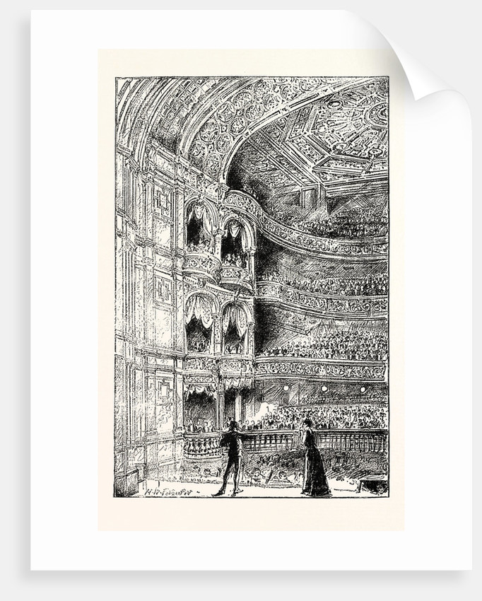 The Royal English Opera House in Cambridge Circus: Interior View 1891 by Anonymous