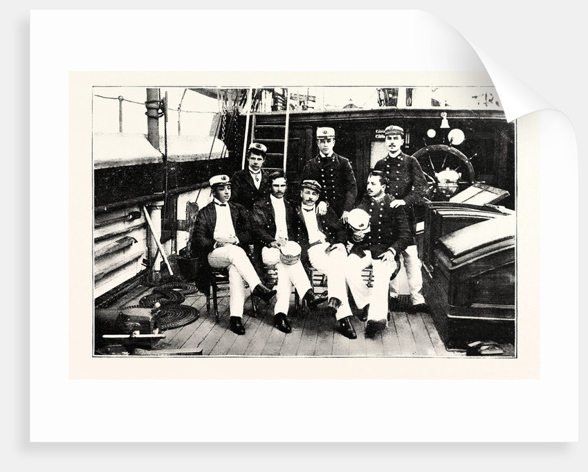 Group of Chilian Officers on Board a Man of War by Anonymous