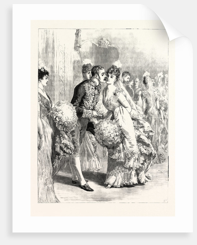 A Drawing-Room at Dublin Castle: The Lord Lieutenant Kissing a Débutante by Anonymous