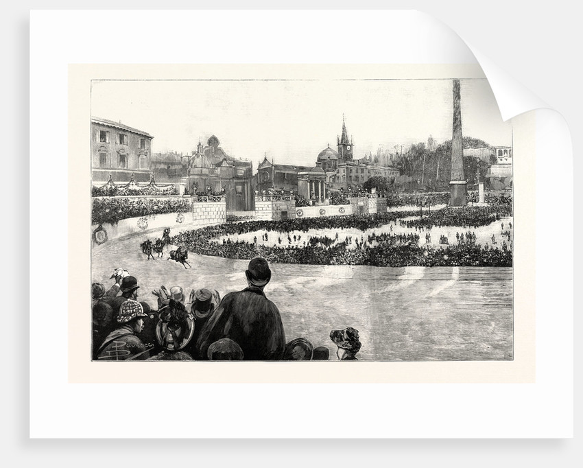 The Carnival at Rome: The Races in the New Circus at the Piazza Del Popolo by Anonymous