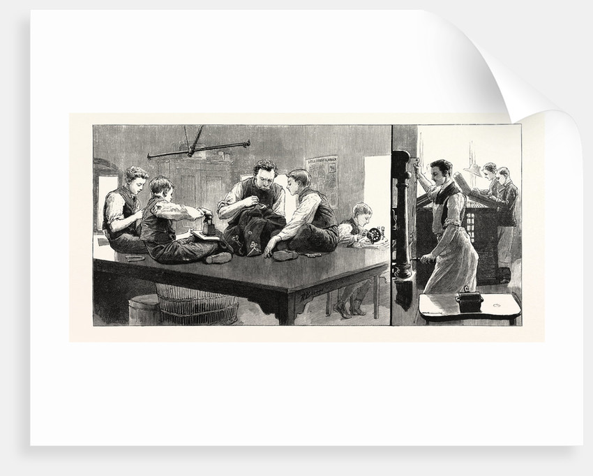 The Anniversary of the Little Boys' Homes at Farningham and Swanley the Home at Farningham: The Tailors' Shop the Composing Room UK by Anonymous