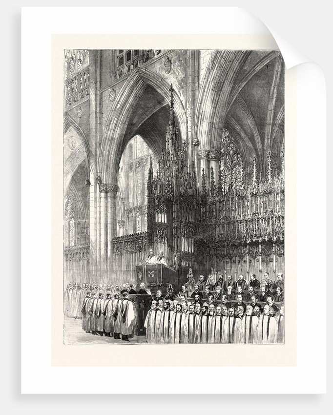 The Installation by the Dean and Chapter in York Minster: The Enthronisation of the New Archbishop of York UK by Anonymous