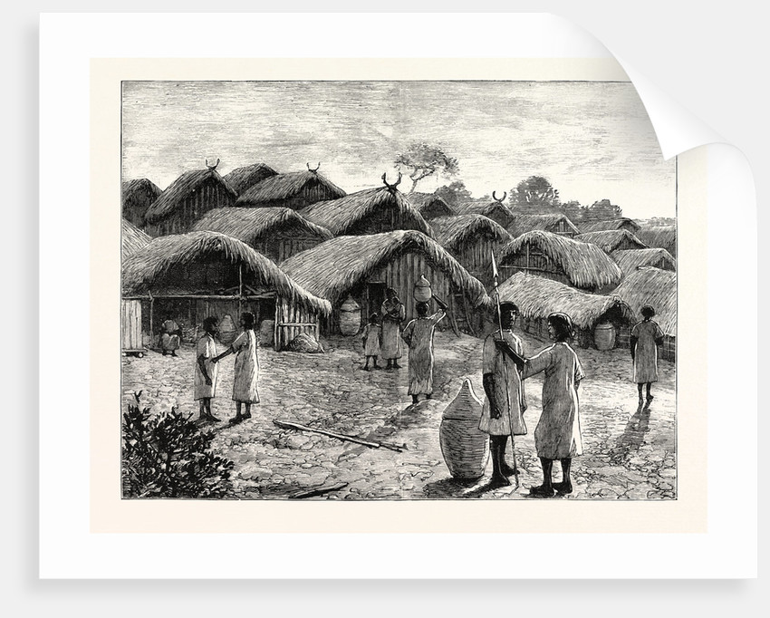 Cluster of Huts at the Native Village of Kohima India by Anonymous