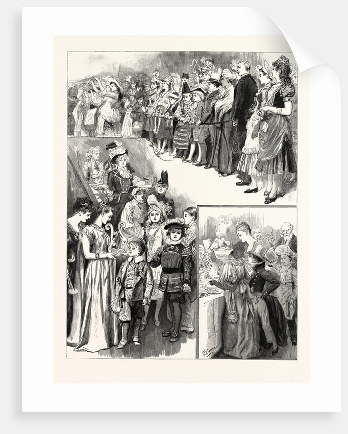 The Juvenile Fancy Dress Ball at the Mansion House UK by Anonymous
