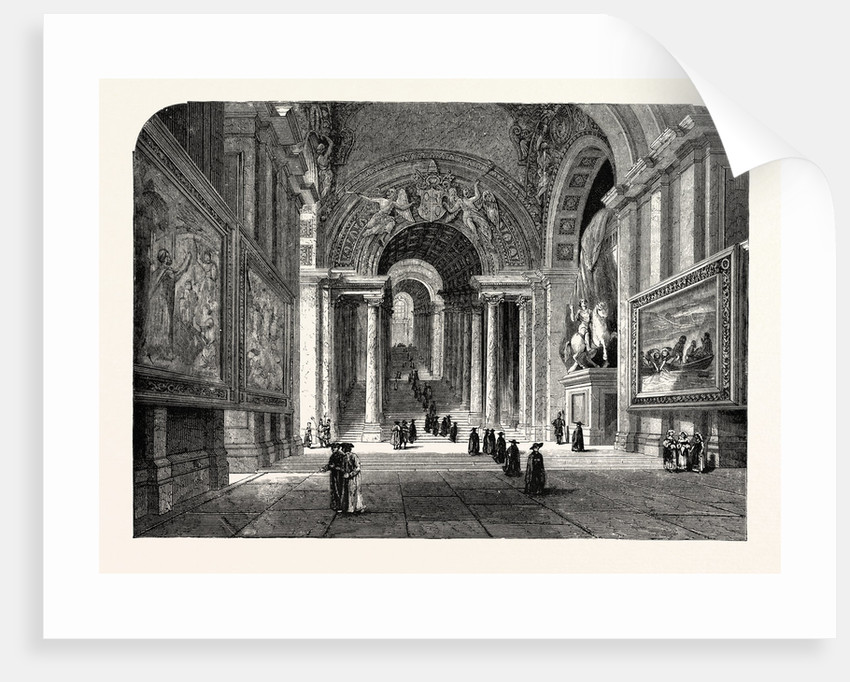 The Scala Regia of the Vatican. Rome Italy by Anonymous