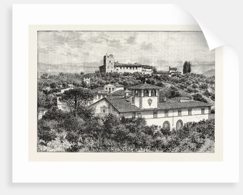 Torre Del Gallo (Galileo's Observatory) Near Florence Italy by Anonymous