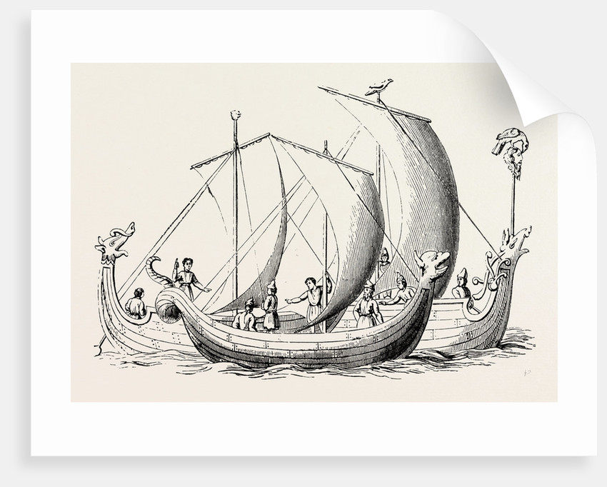 Saxon Ships from an Old Ms. by Anonymous