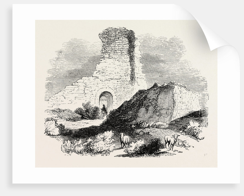 Ruins of a Saxon Fortress at Pevensey by Anonymous