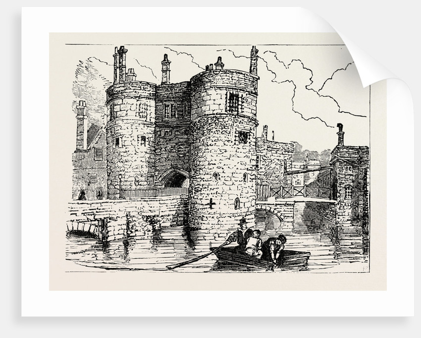 Moat and Entrance Tower of the Tower of London by Anonymous