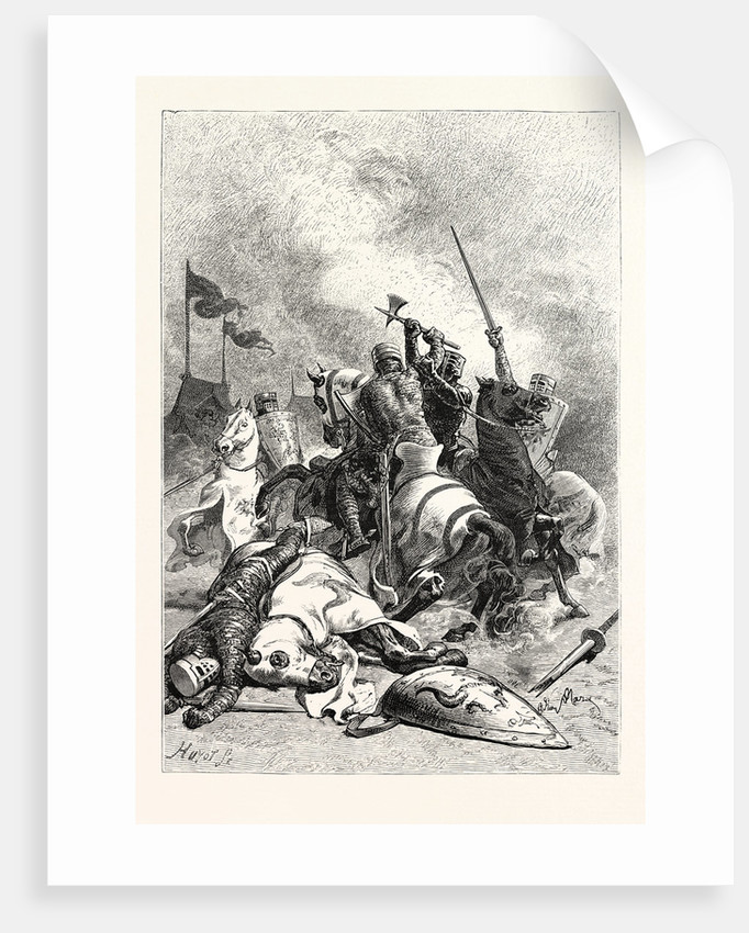 Combat of Norman Knights by Anonymous