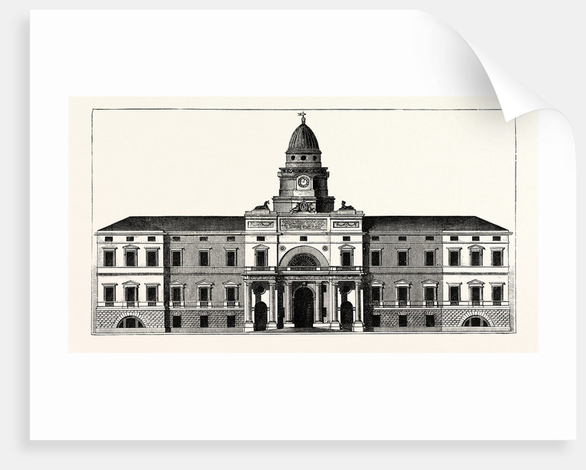 The Original Design for the East Front of the New Building for the University of Edinburgh by Anonymous