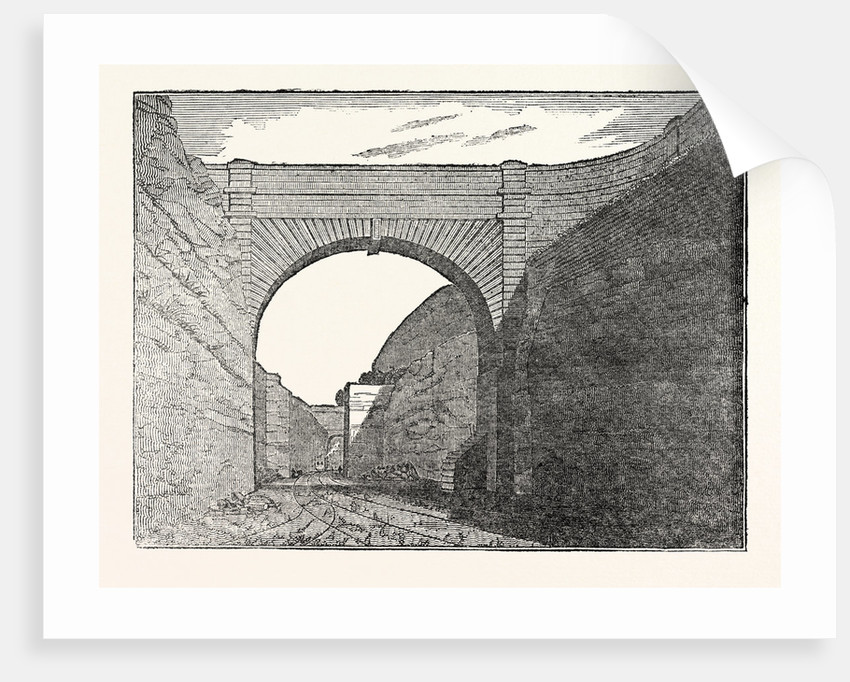 The Manchester and Liverpool Railway: Olive Mount Excavation by Anonymous