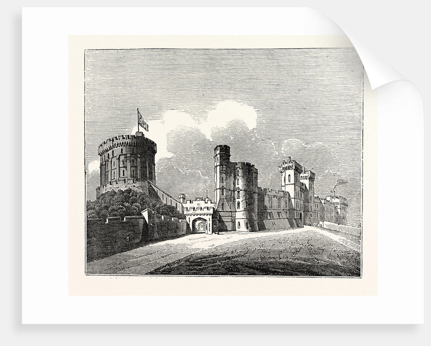 Windsor Castle. Round Tower and South Front by Anonymous