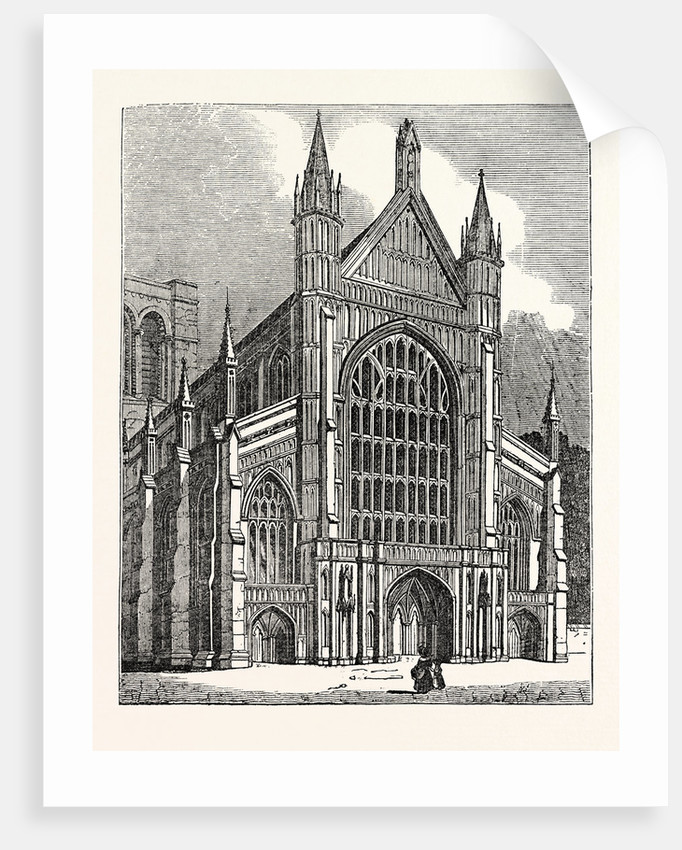 North-West View of the Cathedral at Winchester by Anonymous