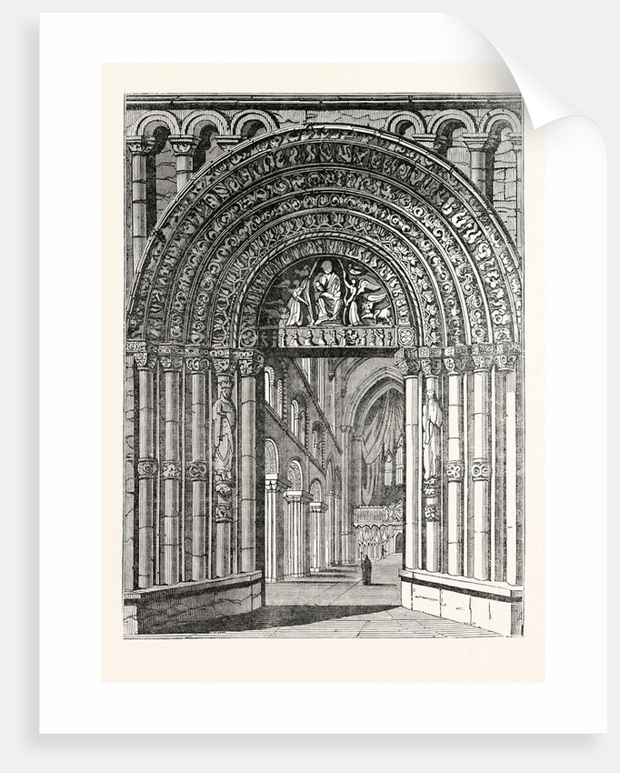Principal Entrance and Interior of Rochester Cathedral by Anonymous