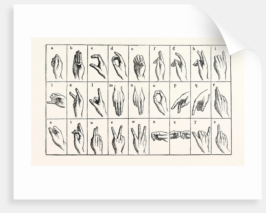 The Single-Handed Alphabet by Anonymous