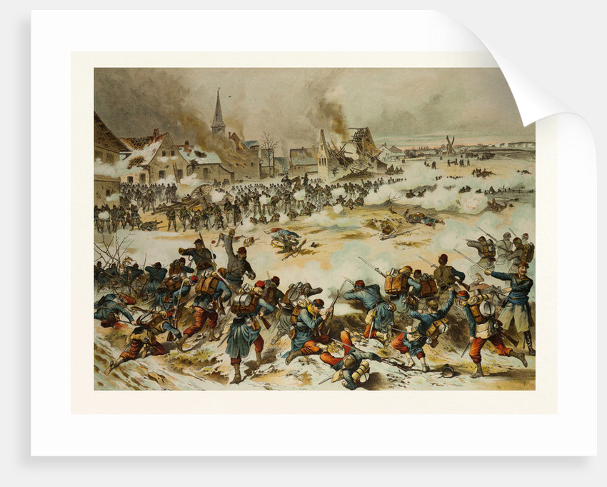 From the Battle Near Bapaume on the 3rd of January, 1871; Together the 8th Hunter Battalion, the 33rd and 69nth Drive the French Out of Villoy by Anonymous