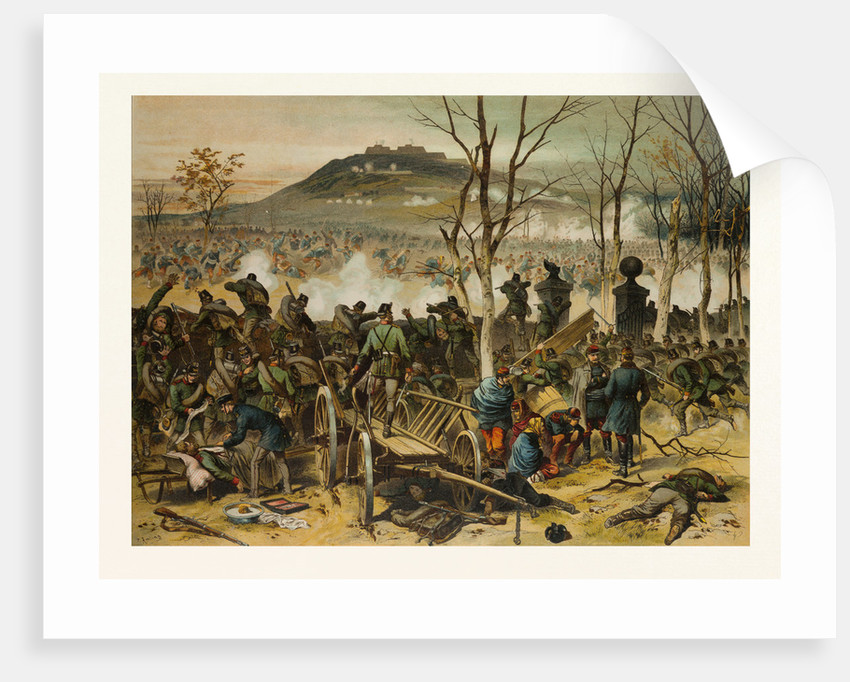 From the Battle at Mont Valerien on the 19th of January; the First Compagnie of the 5th Battalion of Gorlitzer Hunters Defends La Bergerie by Anonymous
