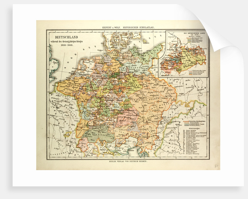 Map Of Germany During The Thirty Years War Posters - Map germany thirty years war