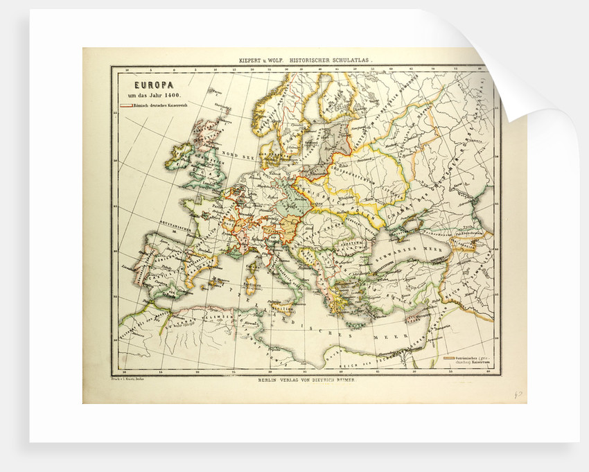 Map Of Europe In 1400 Posters Prints By Anonymous