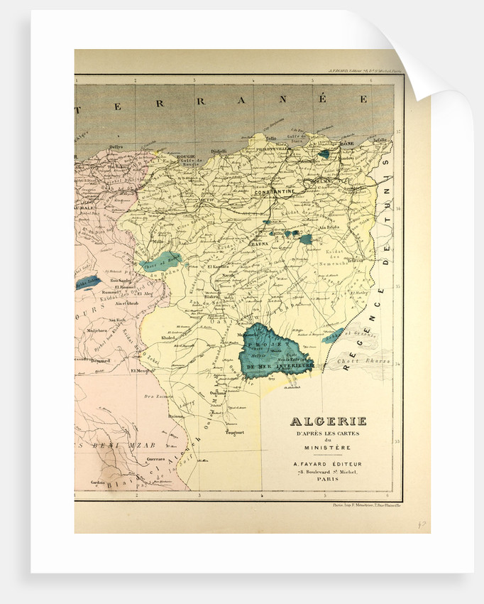 Map of Algeria by Anonymous