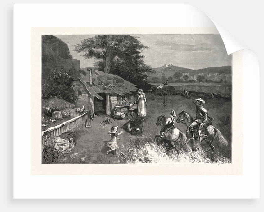Settler's First Home the Far West.-Drawn W. A. Rogers by Anonymous