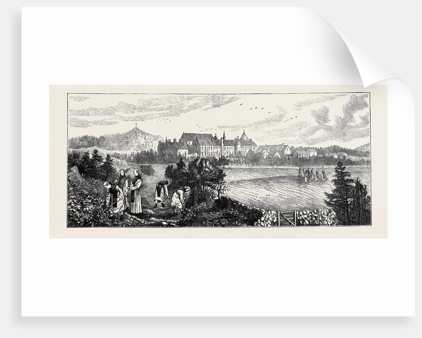 Monastic Life in England: Distant View of the Abbey by Anonymous