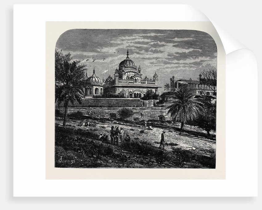 Indian Sketches: The Tomb of Runjeet Singh, Founder of the Sikh Empire by Anonymous