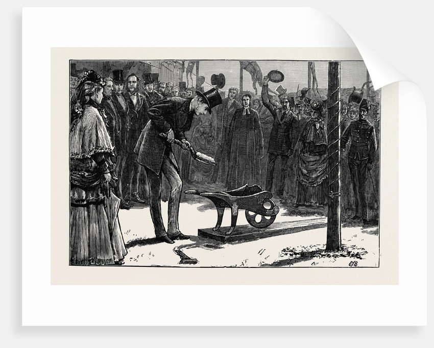Prince Arthur Turning the First Sod of the Hythe and Sandgate Railway by Anonymous