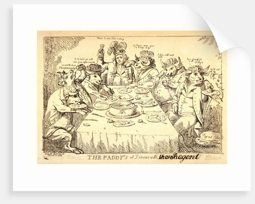 The Paddy's at Dinner with Puddinghead by Anonymous