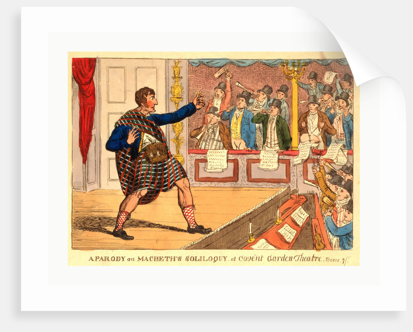 A Parody on Macbeth's Soliloquy at Covent Garden Theatre by Anonymous
