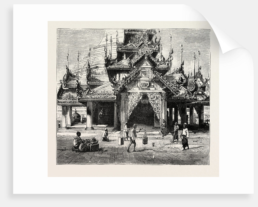 Entrance to the Shway Dagon Pagoda, Rangoon by Anonymous