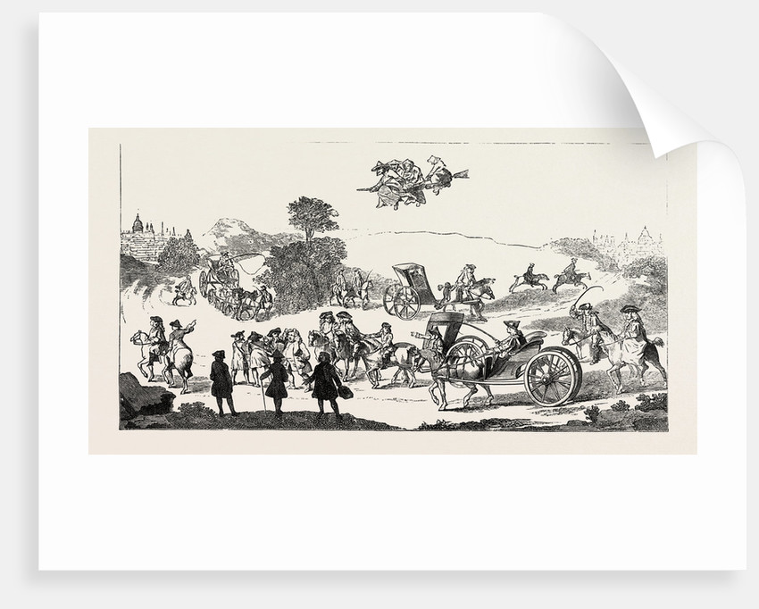 All the World in a Hurry, or the Road from London to Oxford, 1754 by Anonymous