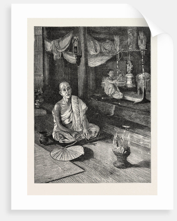 A Call to Worship (Interior of Buddhist Monastery) by Anonymous