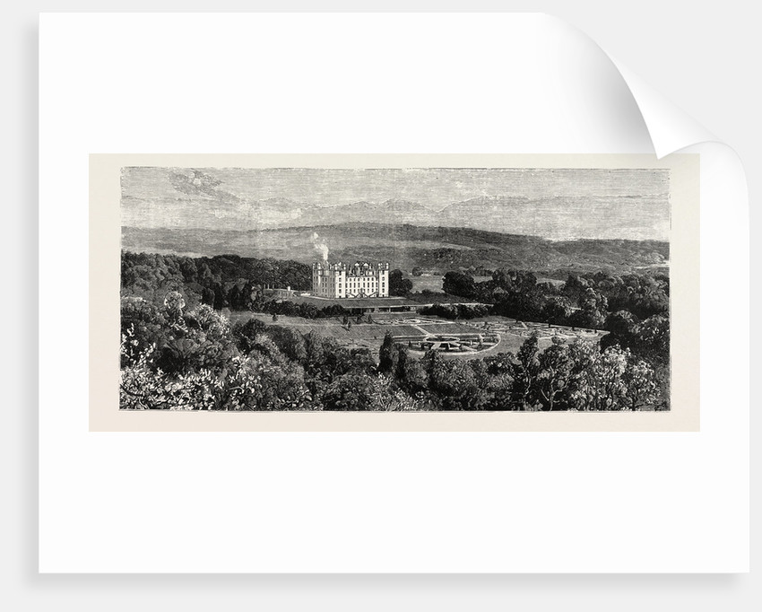 Drumlanrig Castle from the West, Nithsdale, Scotland, Seat of the Duke of Buccleuch by Anonymous