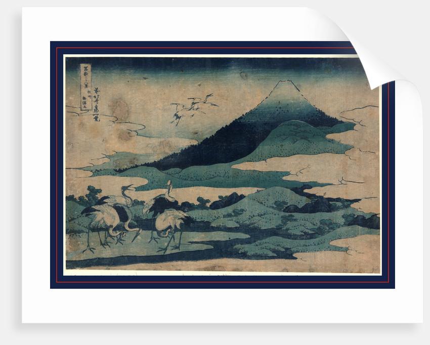 Soshu umezawa zai, Umezawa manor in Soshu by Katsushika Hokusai