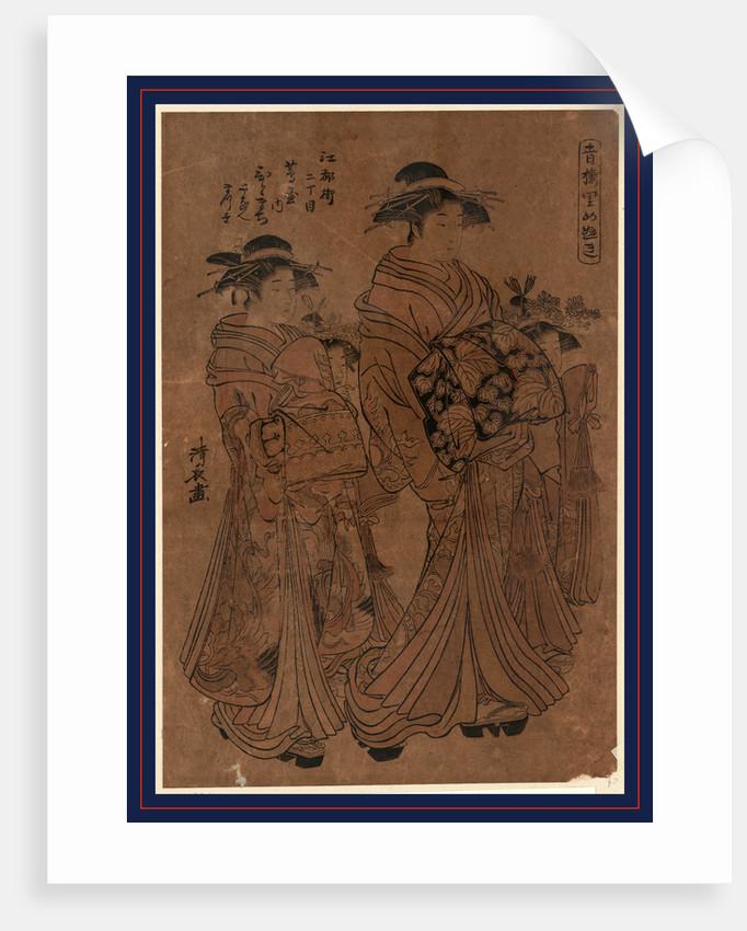 Edomachi nichome tsutaya uchi hitomachi?, The courtesan Hitomachi of Tsutaya at Edomachi Nichome by Torii Kiyonaga