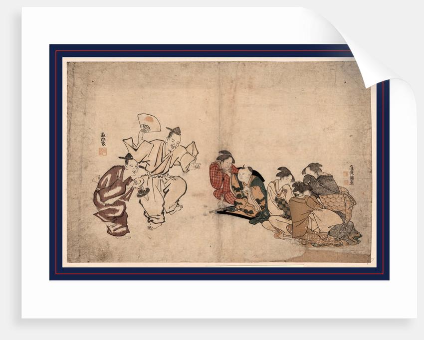 Manzai o miru joseifujo? to kodomo, Women and children watching a Manzai performance by Suzuki Rinsho