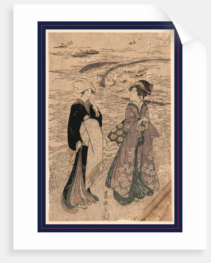 Jibukiami, Fishing net by Utagawa Toyokuni