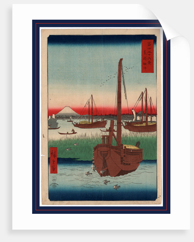Toto tsukuda oki, Offing of Tsukuda in the eastern capital by Ando Hiroshige