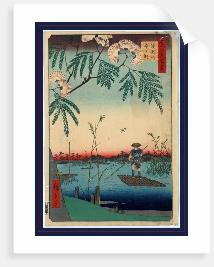 Ayasegawa kanegafuchi, Ayase River and Kanegafuchi by Ando Hiroshige
