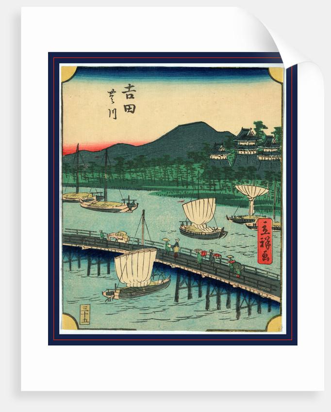 Yoshid by Utagawa Hiroshige
