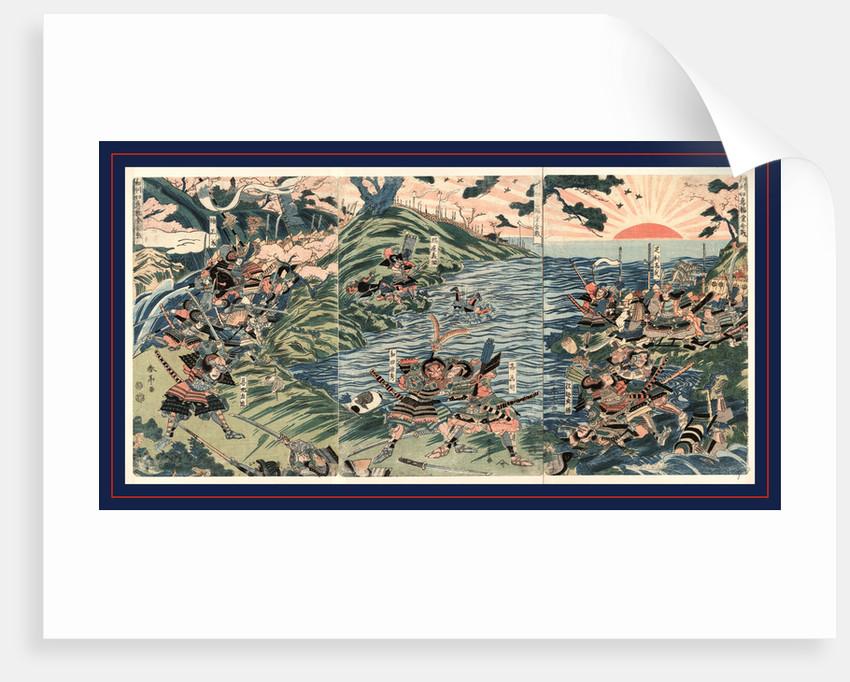 Washu nyoirindo kassen, Battle at the Nyoirin Hall (Nyoririn Temple) in Washu by Katsukawa Shuntei