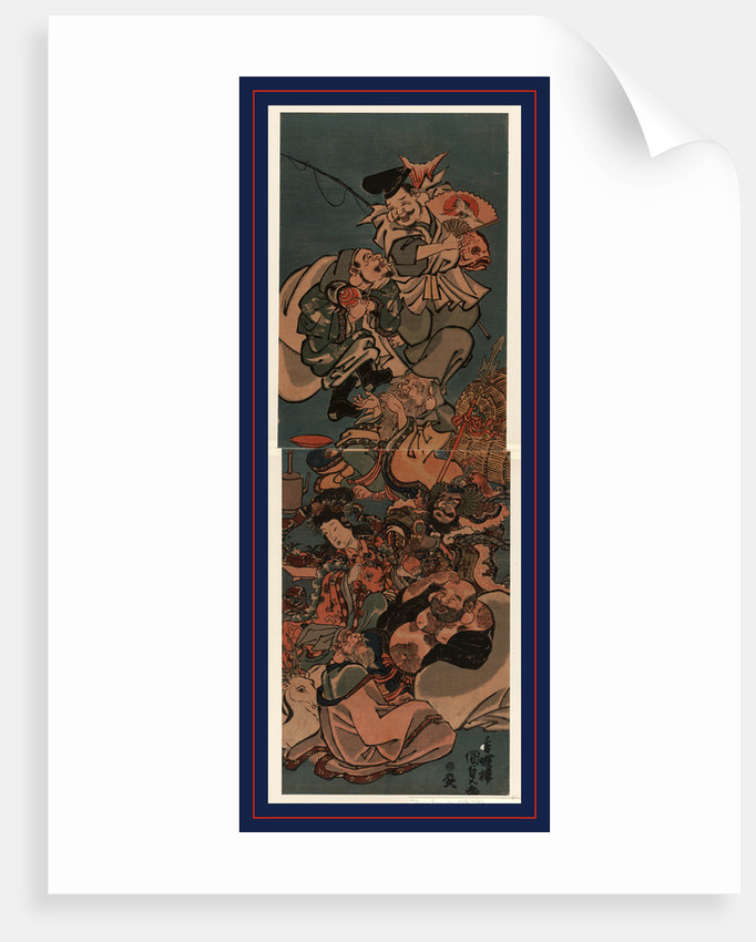 Shichifukujin, The seven gods of good luck by Utagawa Toyokuni