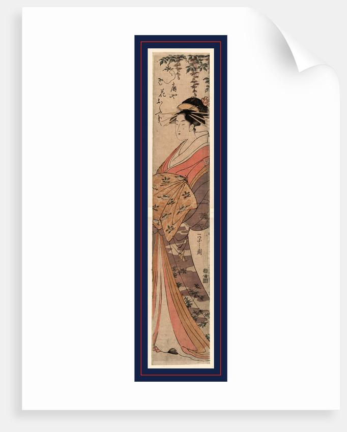 Ogiya hanaogi, The courtesan Hanaogi of the house of Ogi by Hosoda Eishi