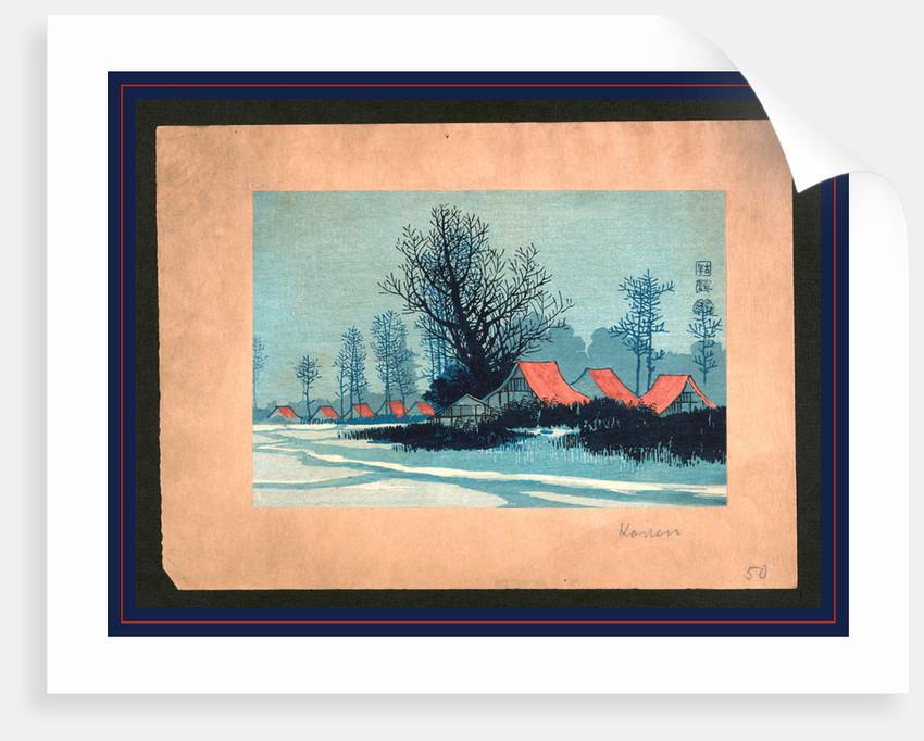 Aka yane no ieie, Red roofs by Uehara Konen