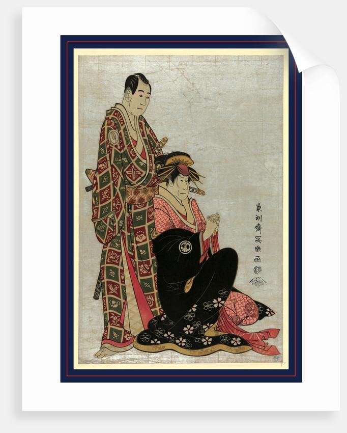 Sawamura sojuro to segawa kikunojo, The actors Sawamura Sojuro and Segawa Kikunogo by Toshusai Sharaku