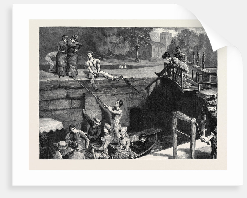 Oxford: A Picnic to Nuneham: In Iffley Lock, Winding Up the Company by Anonymous